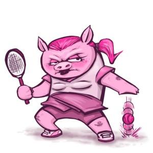 Tennis pig