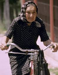 old lady bike
