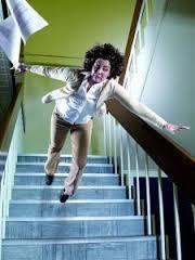 falling down steps